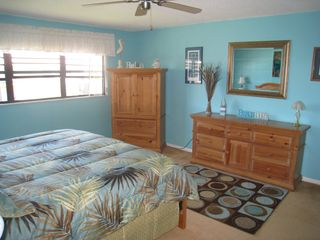 Ormond Beach condo photo - Master Room...hear the waves, or if you must fall asleep with a TV, you can.