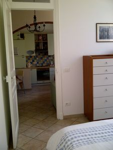Menton apartment rental - Bedroom through to living area