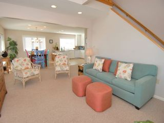 Morehead City house photo - Living room to the dining room