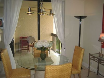 dining room & balcony