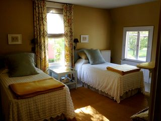 Rhinebeck house photo - Lovely golden twin-bedded room faces east and comes with a cedar-lined closet