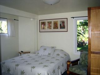 Sunset Beach house photo - Downstairs bedroom, TV, bathroom, Queen bed, private entrance