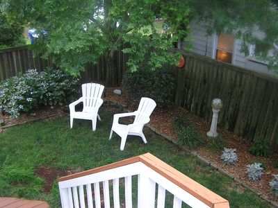 View of backyard from 2nd floor deck