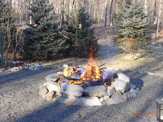 Bushkill chalet photo - firepit for roasting hot dogs and marshmallows