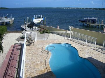 Key Largo house rental - VIEW OF POOL AREA AND PARTIAL VIEW OF BAY