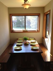 Dining Area with Park and Lake View for 8 persons