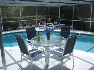 Vacation Homes in Marco Island house photo - Al Fresco Dining at the Pool.