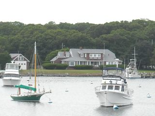 Oak Bluffs house photo - Looking at the house from across the harbor