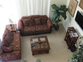 Liberty Village house photo - Family room living area - flat screen TV - DVD X box - view of the pool