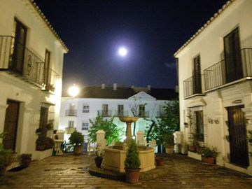 Moon over the plaza