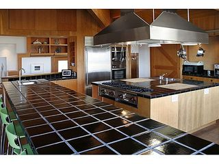 Sea Ranch house photo - A view of the gourmet kitchen as seen from sitting at the bar counter.