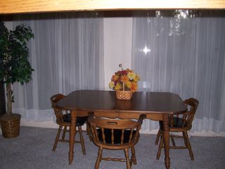 Rehoboth Beach house photo - Large Table w/extensions Seats 6+ Dining With a View!