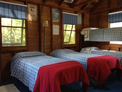 Bunk house. Two bunk beds that can be made into single beds.