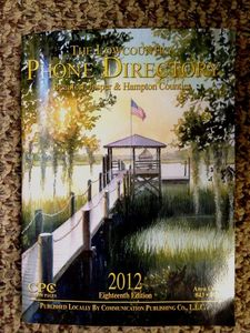 Our dock is featured on the front of the Beaufort phone book!!!