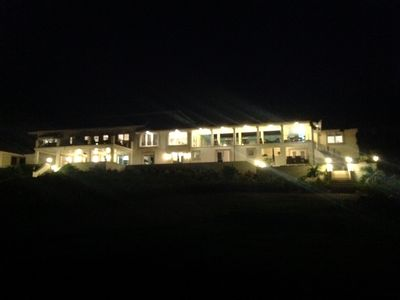 Exterior of Oak Hill House at night