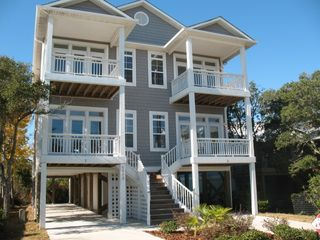 Carolina Beach townhome photo - Front View (Unit on Right)