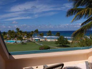 St. Croix condo photo - Upper Deck View of the Beach and Pool