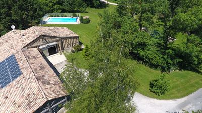 Holiday rental house, swimming pool, cottage lamoutole, Villereal