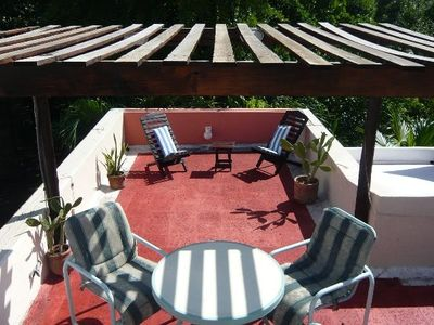 Villa Maya Upstairs  private Roof Top Terrace with View on tropicalPark