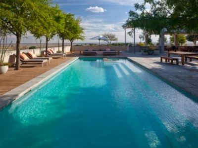 Marfa house rental - The Socializing Pool