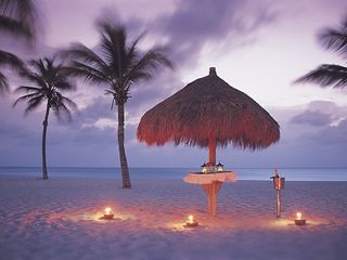 Aruba villa photo - Evening at the beach