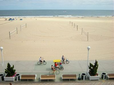Ocean City Beautiful Beach and Boardwalk is a short walk from this unit
