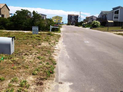 Beach access steps away;end of street. VERY quiet, spacious beach. Very private.