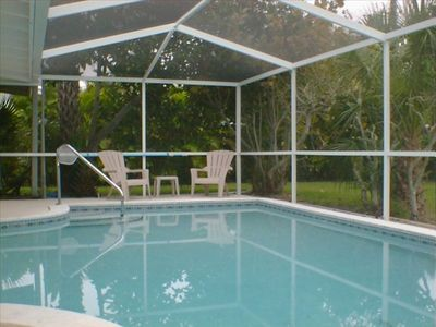 Electric heated screened Pool