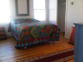 Peconic house photo - The fourth roomy, restful bedroom. Full of light, color and a comfortable bed!