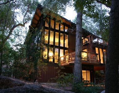 Exterior: Three story windows overlooking the year-round cascading stream