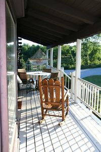 Claybank Township cottage rental - Morning Sun on South Porch