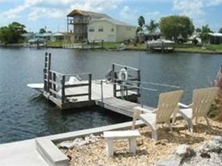 Dock in your back yard, boat now upgraded to Pontoon!