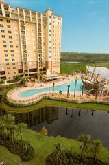 Lake Buena Vista condo photo - Birds eye view of the pirateship pool.