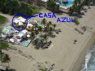 This is an arial view of the house prior to the renovation. - Cabarete villa vacation rental photo