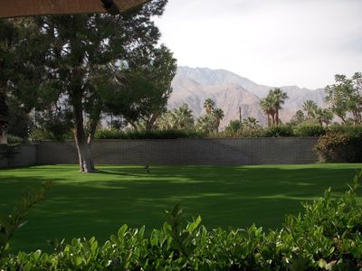 Palm Springs condo rental - View from back patio table