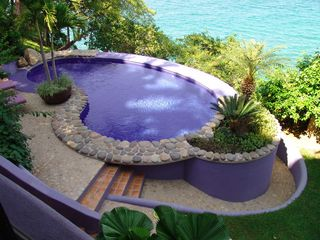 San Francisco villa photo - Kidney shaped pool with beach/ocean views.