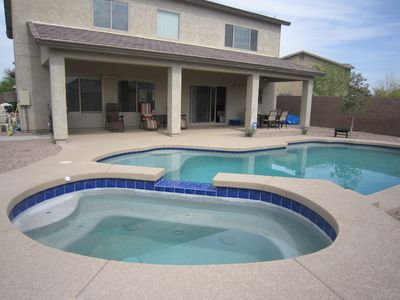 Let's look at the fun stuff first...outdoor patio, pool and SPA!