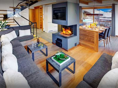 5* Relax around the open fire or watch all the piste action - OVO Network