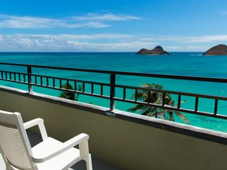 Lanikai house photo - Deck off queen bedroom