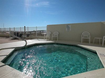 One of Two Large Pool-side Hot Tubs