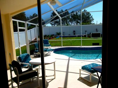 VIEW TO POOL FROM FAMILY ROOM