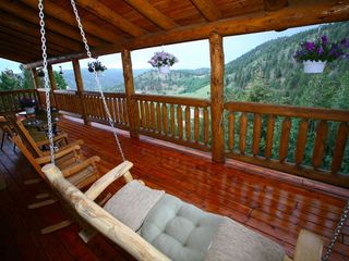 Divide house photo - Large Porch with mountain views.