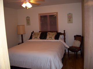Lake Ariel house photo - Main Level 2nd Master Bedroom~Queen Bed~Separate Bathroom