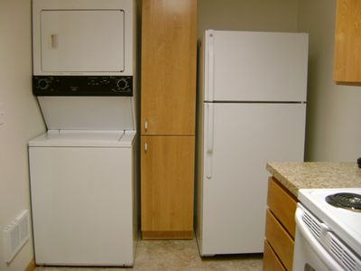 New kitchen addition - washer/dryer and refridge