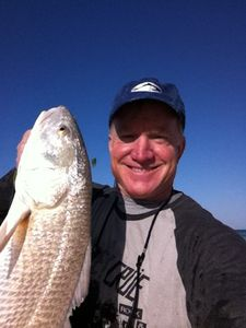 "Niceville cabin rental - 30"" Redfish. Caught 4/11/2011"