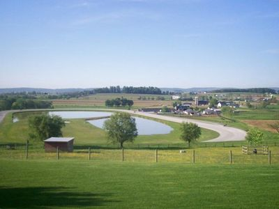 a beautiful horse farm from the view at the guest home