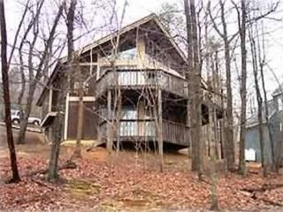 Massanutten house photo - Back view with double decks overlooking ski slopes