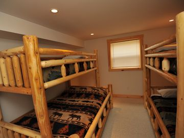2nd Lower level bedroom with bunks, sleeps 5.