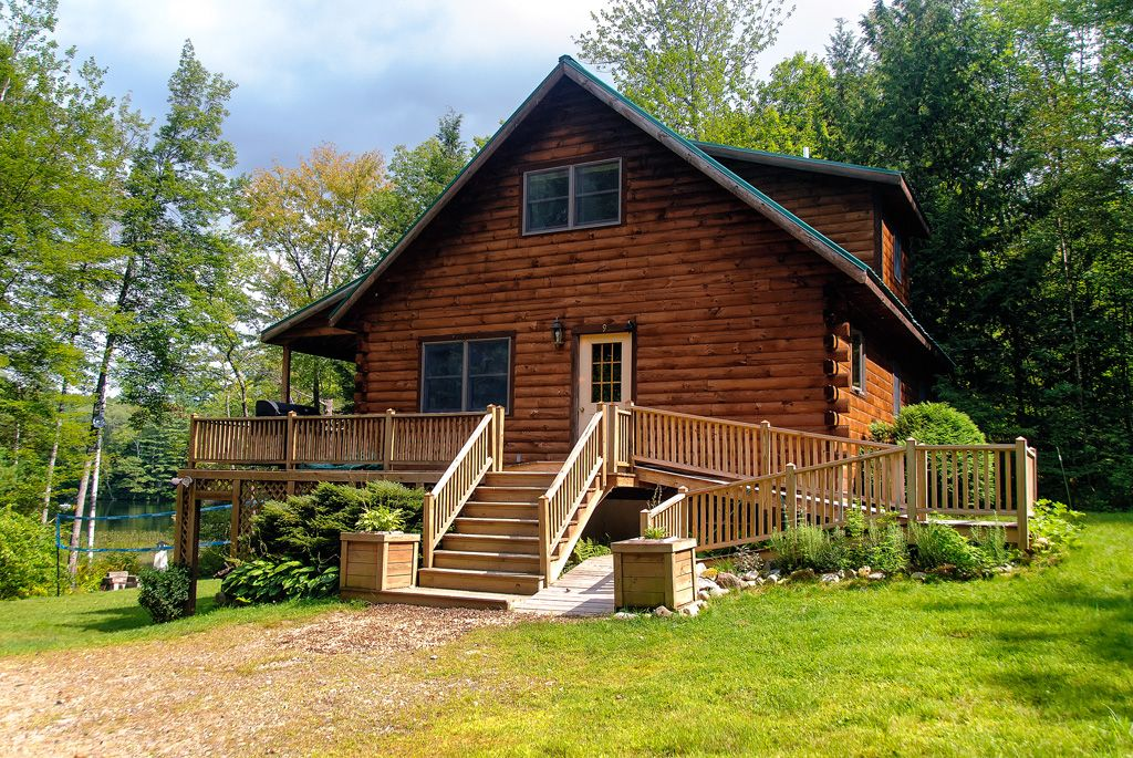 maine lakeside log cabin 3 bd 2ba hot tub vrbo ForCabin Rentals In Maine With Hot Tub