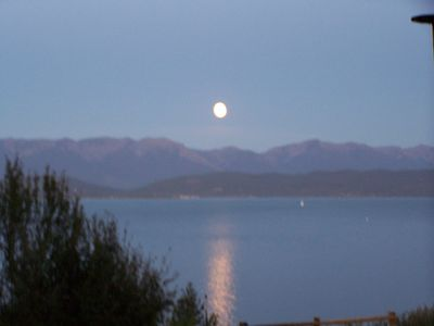 Moon view over the Swan Mts.